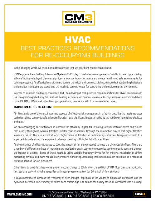 HVAC Best Practices To Better Control Building Environments